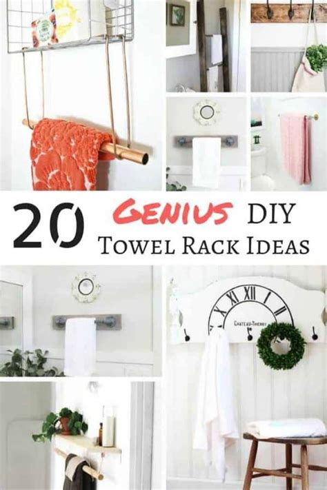 20 genius diy towel rack ideas the handyman s