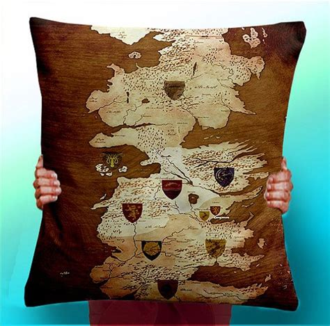Of Thrones Pillow by Of Thrones Map Vintage Houses Cushion Pillow