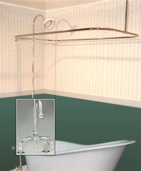 Clawfoot Tub With Shower by Clawfoot Tub Deckmount Shower Enclosure Combo W Gooseneck