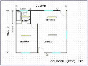 one bedroom house floor plan layout