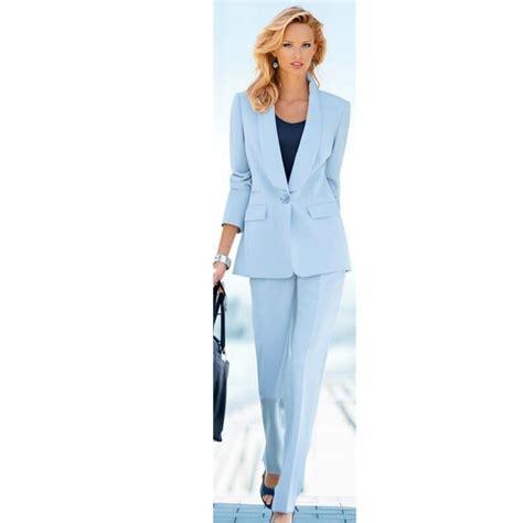 light blue suit womens light sky blue office womens trouser suit