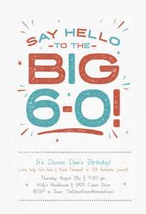 quot say hello to the big 60 quot printable invitation customize add text and photos print for free