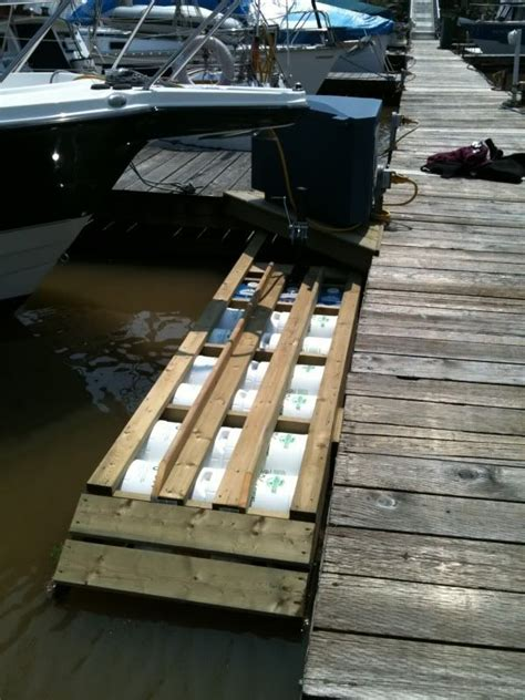 how to build a boat pod diy floating dock r progress thread page 2 boat
