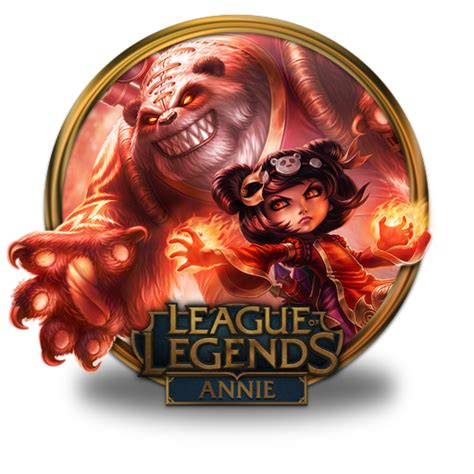 gold wallpaper lol annie panda icon league of legends gold border iconset