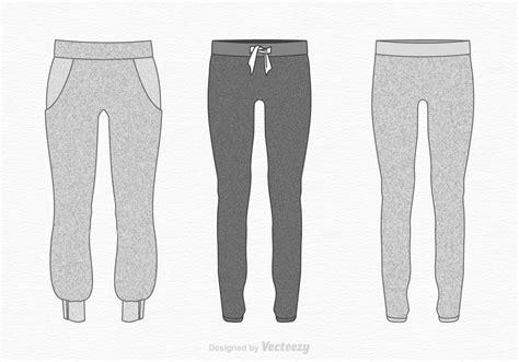 Free Vector Sweatpants Illustration Download Free Vector Art Stock Graphics Images Sweatpants Template Vector