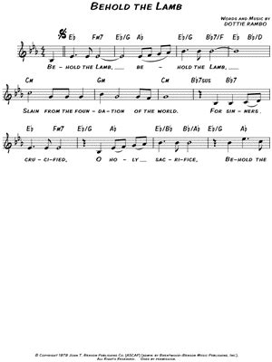 printable lyrics to now behold the lamb david phelps quot behold the lamb quot sheet music download print