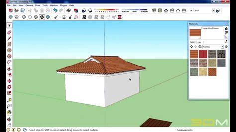 tutorial do google sketchup 8 em portugues tutorial como fazer telhado no sketchup youtube