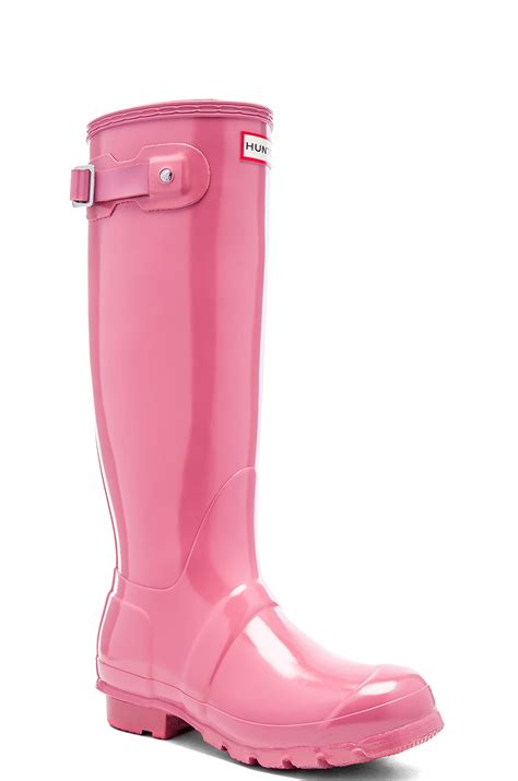 pink boots for original gloss rubber rainboots in pink lyst