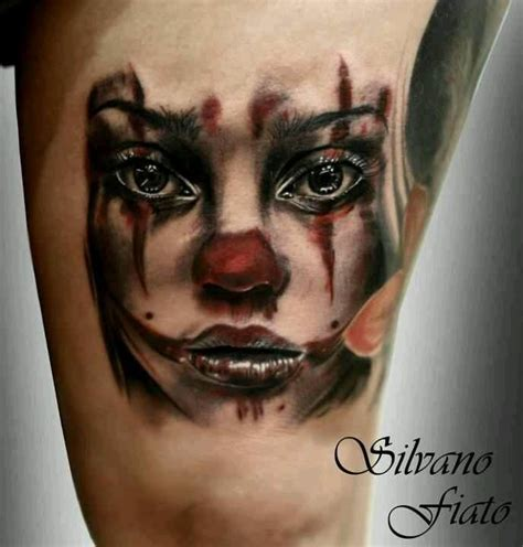 clown face tattoo clown