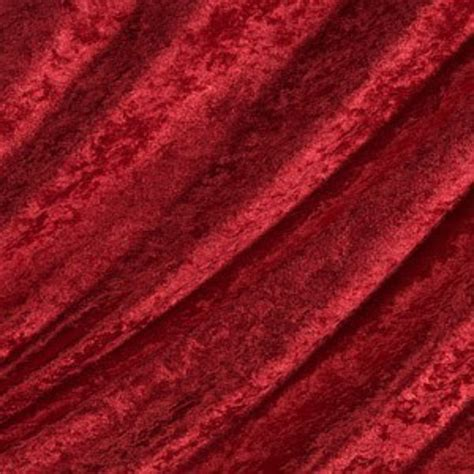 Faux Leather Upholstery Red Crushed Velvet Fabric Crushed Velvet
