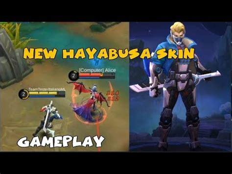 Mobile Legend Hayabusa The Blues new hayabusa skin future enforcer gameplay mobile legends