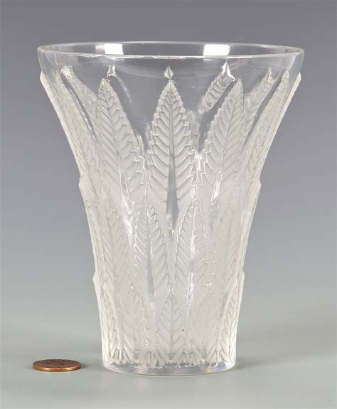 Lalique Vase by Lot 731 Lalique Chataignier Glass Vase
