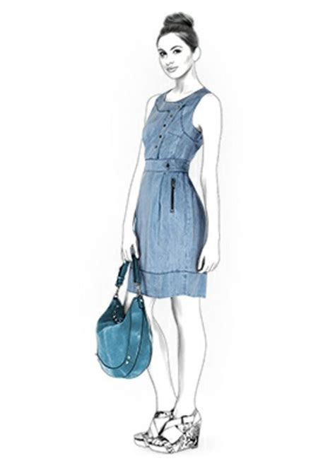 jeans dress pattern denim dress sewing pattern 4367 made to measure sewing