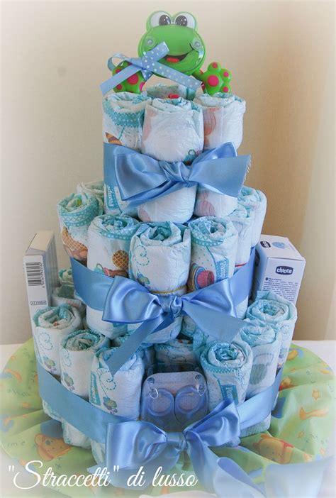 di pannolini torta di pannolini con baby per baby quot straccetti quot di lusso