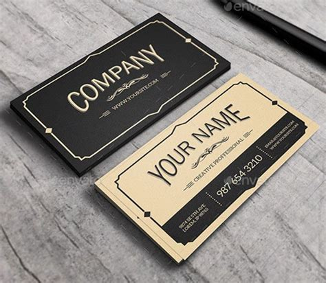 Vintage Style Business Card Template by Vintage Style Business Cards Theveliger