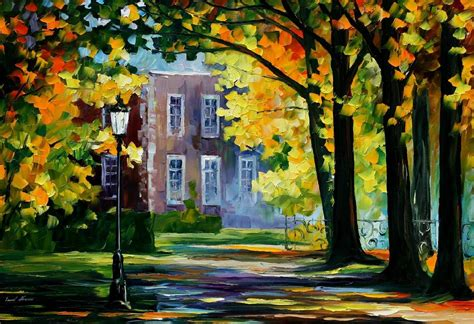 Summer House Palette Knife Oil Painting On Canvas By