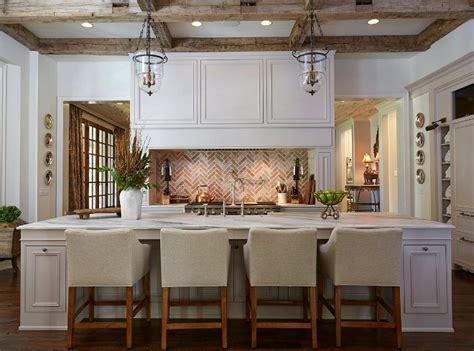 kitchen brick backsplash traditional white kitchen with brick backsplash home bunch interior design ideas