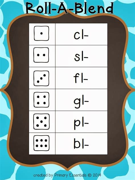 free roll a blend game reading pinterest activities