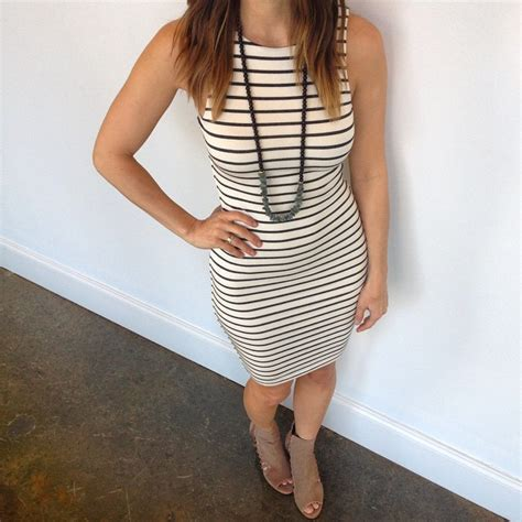 Dress Jersey Lkn Tart Fitted Stripes Scout Molly S