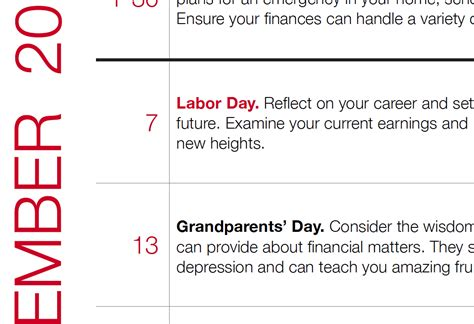 Finance Calendar September 2015 Personal Finance Calendar
