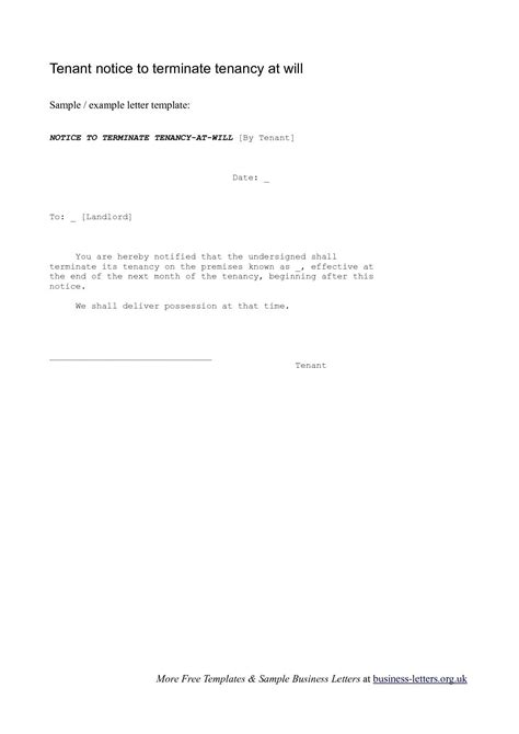 end of tenancy letter template from landlord unauthorized tenant letter template exles letter