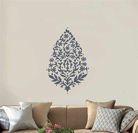 large wall stencils wall stencil large paisley 36 quot india ethnic