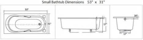 how to make do with small bathtub dimensions small