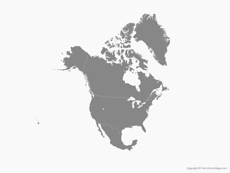 america vector map outline vector map of america with countries single color