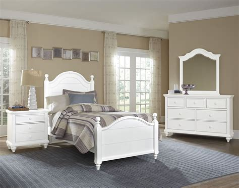 nantucket soft white youth poster bedroom set 374 338 833