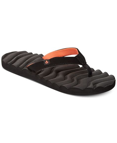 black reef sandals reef swell sandals in black lyst