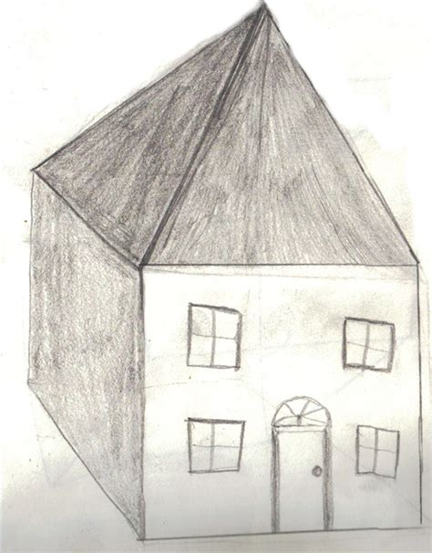 how to draw a house how to draw a 3d house with pictures ehow