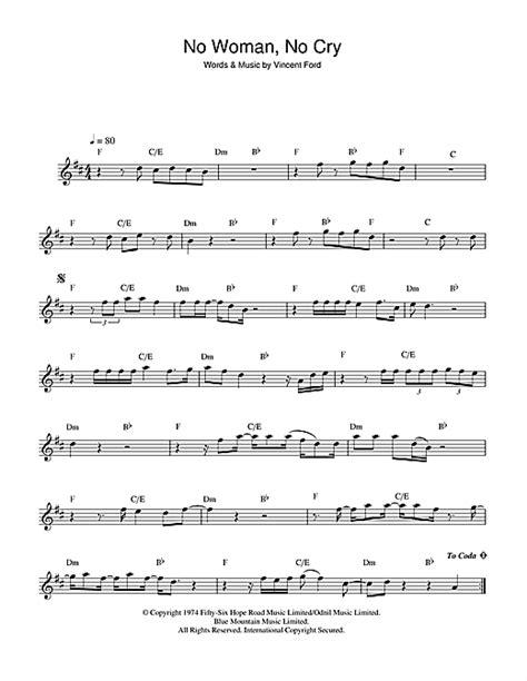 No Woman, No Cry sheet music by Bob Marley (Alto Saxophone