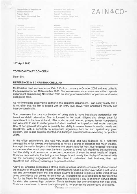 Reference Letter Lawyer teaching reference letters chelliah