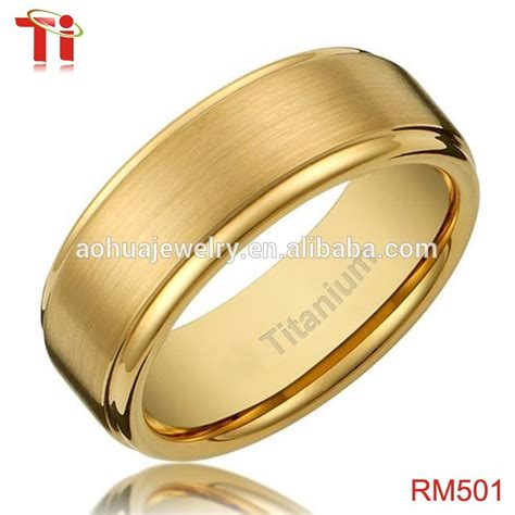 Wedding Rings Design In Gold by Gold Ring Designs 8mm S Titanium Gold Plated