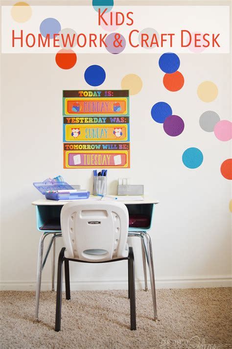 homework desk ideas homework craft desk our thrifty ideas
