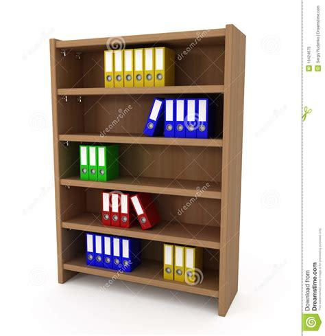 File Shelf by Shelf With Files Folders Royalty Free Stock Photo Image
