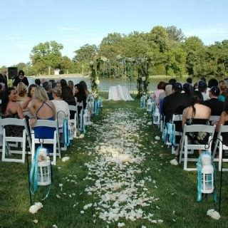 Wedding Aisle Lined With Lanterns by The Petal Aisle Lined By White Lanterns With