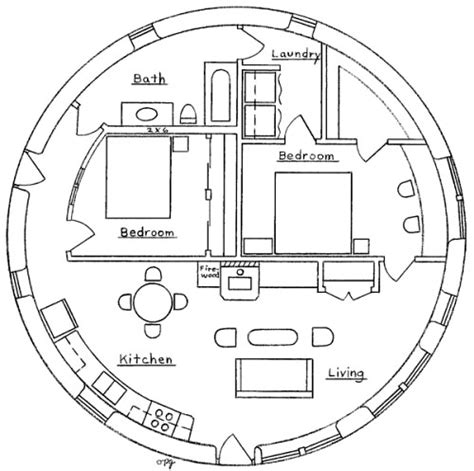 floor plans for round homes earthbag roundhouse