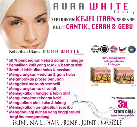 Aura White Plus Collagen aura white collagen new improvement free serum free