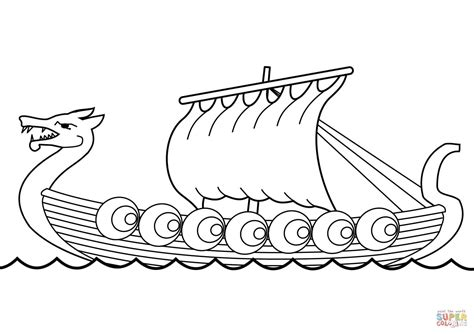 how to draw a longboat drakkar coloring page free printable coloring pages