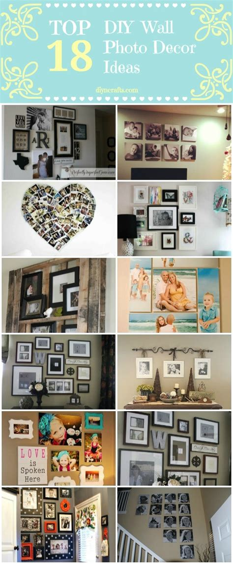 crafts to decorate your home top 18 diy wall photo decor ideas diy crafts
