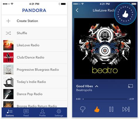 pandora radio for android reved pandora app goes live with new personalization icon mini player and more