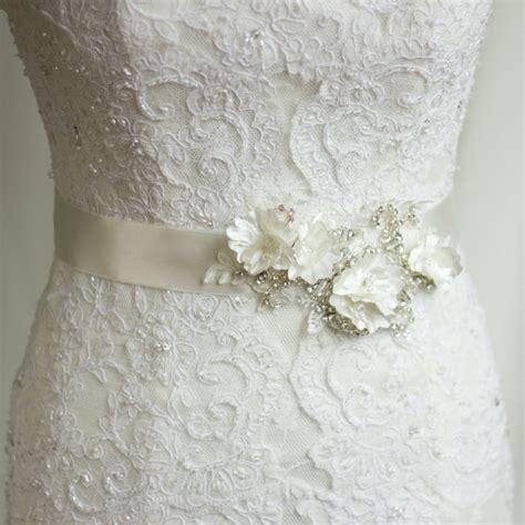 Wedding Dress Belts by Bridal Sash Wedding Dress Belt Rhinestone Sash Bridal