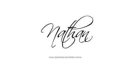 tattoos designs names cursive nathan name designs