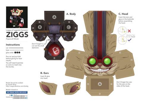 league of legends ziggs papercraft ohraley
