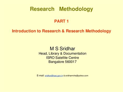Research Methodology Ppt For Mba by Introduction To Research Methodology