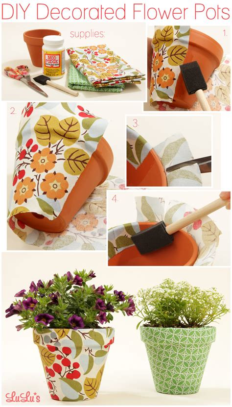 how to decorate a pot at home diy decorated flower pots lulus com fashion blog