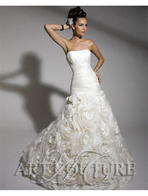 Art Couture AC290 Fish Tail Dress Full Ruffled Skirt