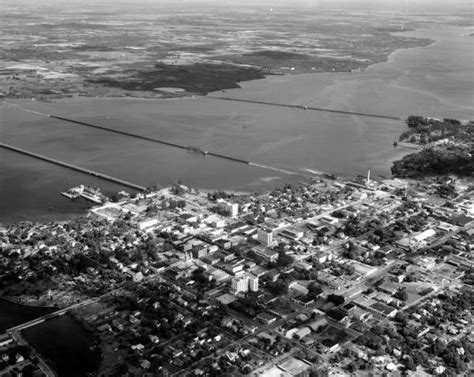 Manatee County Florida Records Florida Memory Aerial View Showing The Town Of Bradenton