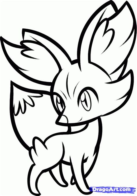pokemon coloring pages fennekin new pokemon coloring pages x and y how to draw fennekin